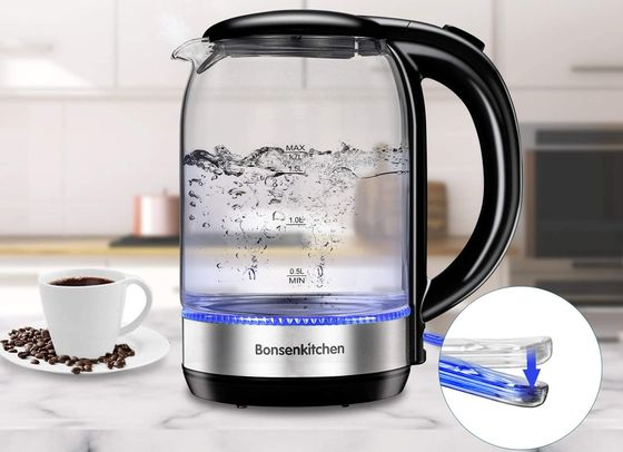 LED See Through Kettle With Blue Light
