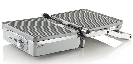 Electric Tabletop Grill With Steel Finish