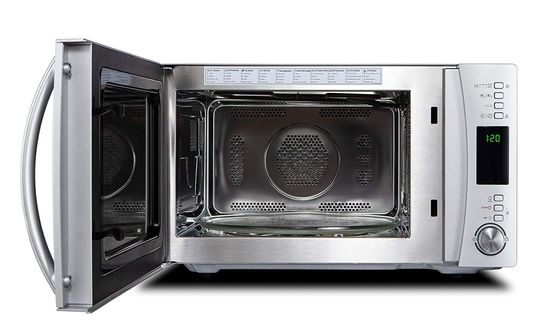 Microwave And Oven Combo In Steel Finish