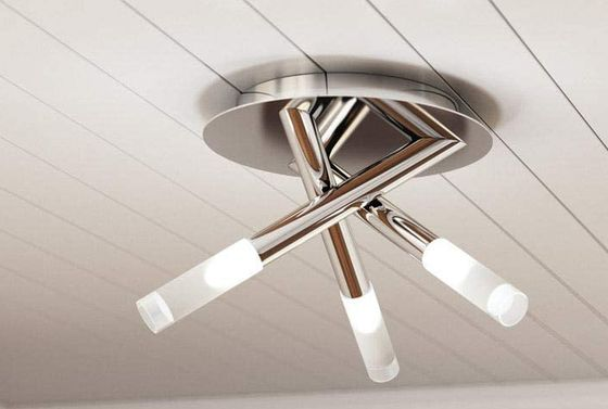 x3 Chrome Flush Mount Ceiling Lights