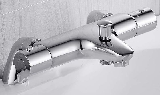 Chrome Bath Shower Mixer Tap Fixed On Surface