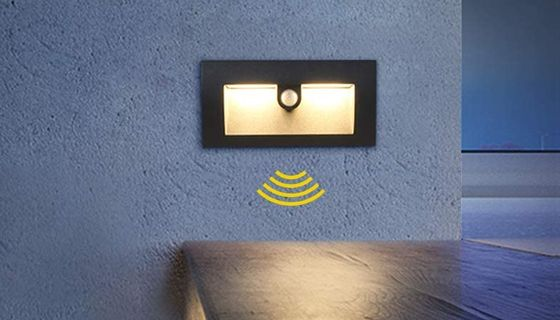 Motion Activated Light Sensor In Black