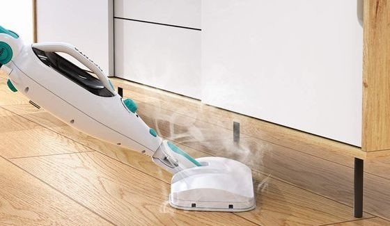 Wooden Floor Steam Cleaner With White Head