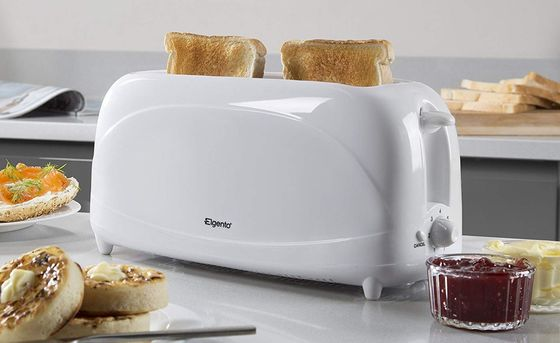 4 Slot Large Slice Toaster In All White