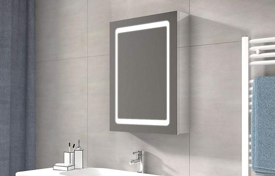 Bathroom Cabinet With Bright LED Mirrored Door