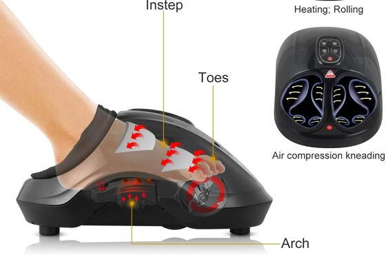 Warming Foot Shiatsu Massager With Curved Exterior