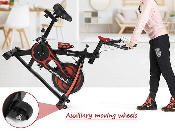 Indoor Spinning Exercise Bike In Red