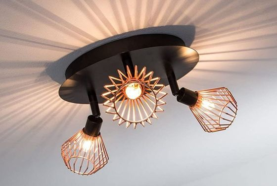Black Vintage Ceiling Spotlight