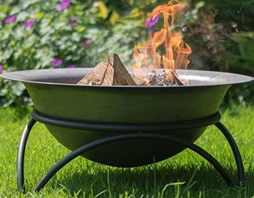 Portable Fire Pit On Stone Floor