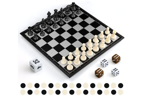 Chess Board Game In White And Black