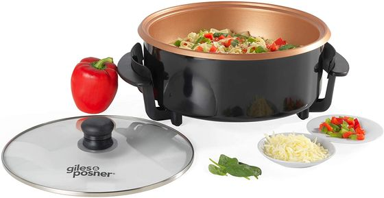 Electric Frying Pan With Glass Top