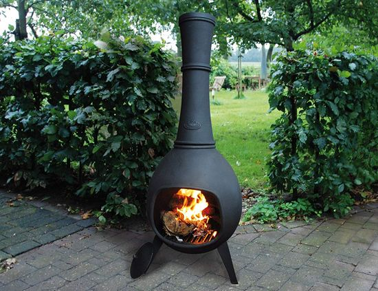 Large Garden Chiminea Oven With 3 Legs