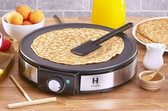 Crepe Maker With Round Heat Dial
