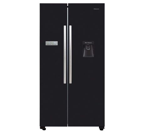 Black Double Fridge Freezer With Dispenser
