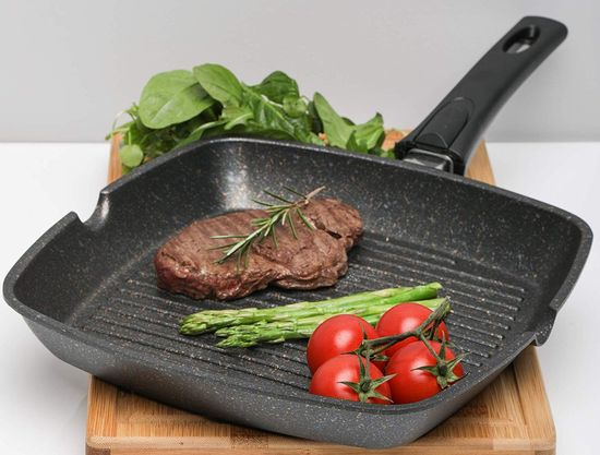 Induction Frying Pan Griddle With Black Grip