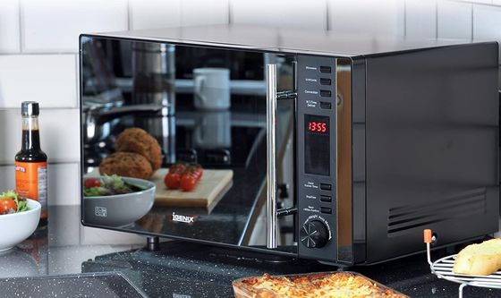 Microwave Oven Grill With Mirror Door