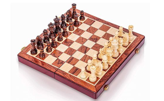 Magnetic Travel Chess Set In Wood