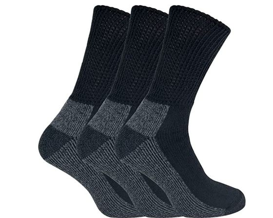 Mens Extra Wide Diabetic Socks Cushioned