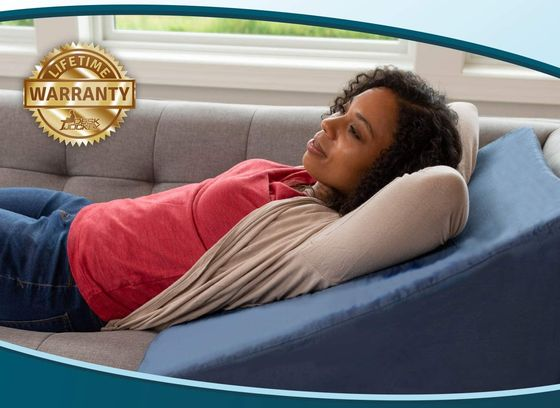 Clinical Post Surgery Rest Pillow In Blue
