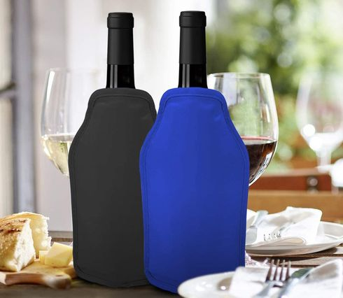 Sleeve Slimline Wine Coolers In Blue, Yellow And Red