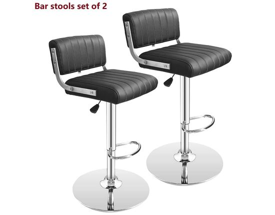 Steel Bar Stool Chairs In Black