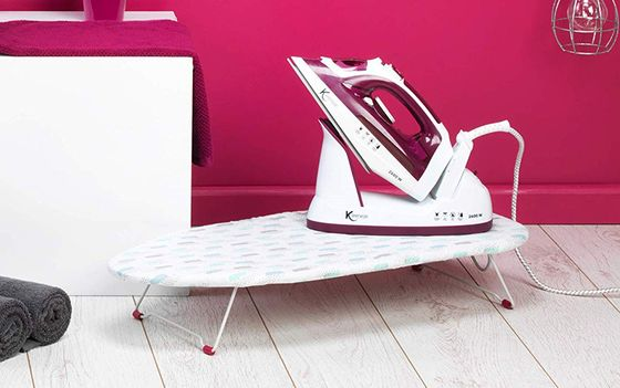 Small Table Top Ironing Board On Floor