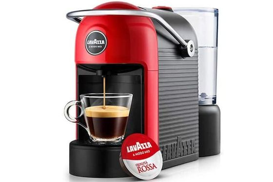 Capsule Coffee Machine In Red And Black