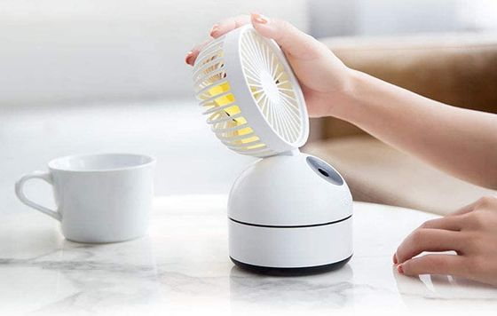 Personal Handheld Misting Fan In White