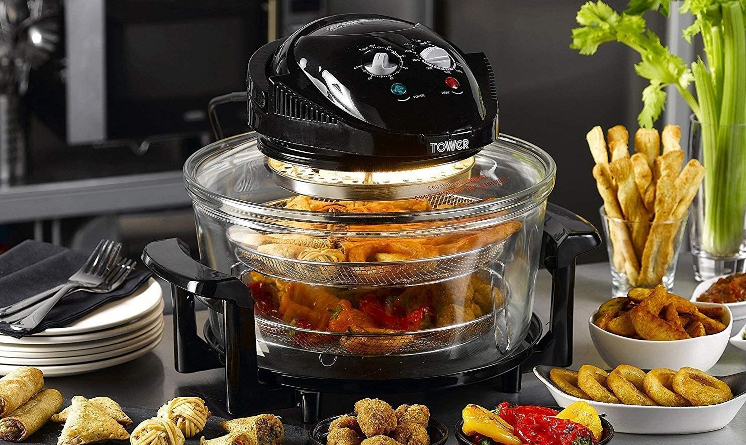 5L Capacity Electric 17L Halogen Air Fryer Low Fat Fast Cook Healthy Oven 12L