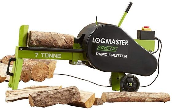 Red Log Splitter On Grass