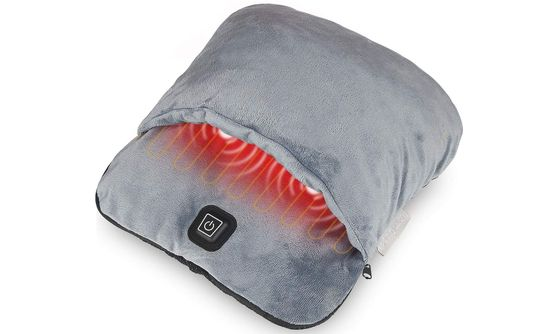 Foot Therapy Heated Warmer In Grey Textile