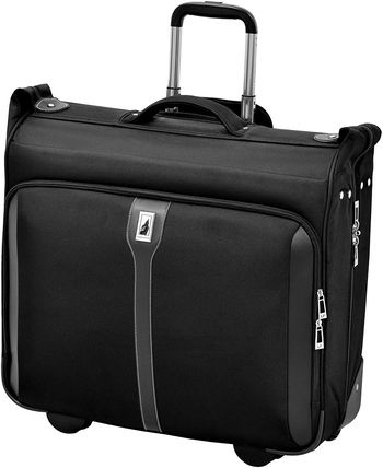 Black Suitcase For Suits With Square Grip
