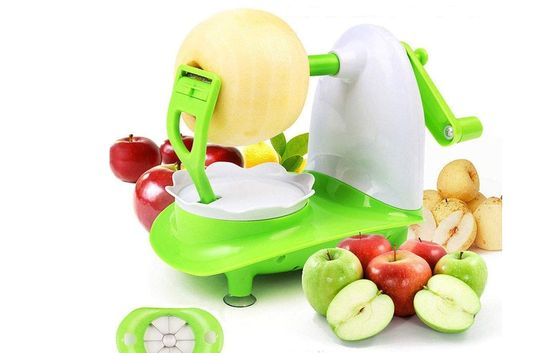 Apple Corer Slicer Peeler In Green And White