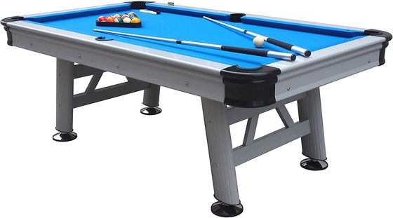 6 Foot Pool Table With Snooker In Black Wood