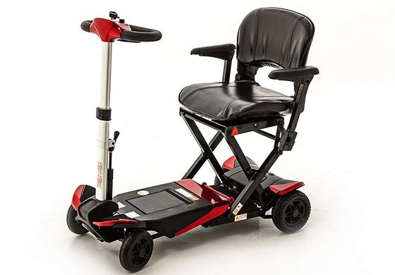Travel Mobility Scooter In Red And Black