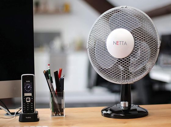 Silent Cooling Fan With Black Round Base