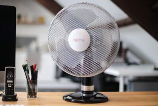 Black White Desk Fan