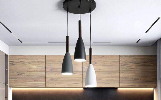 Modern Pendant Ceiling Light Black And White