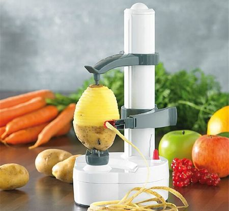 Electric Apple Peeler With Grey Arms