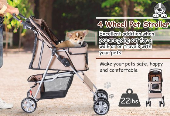 Dog Buggy On Wheels With Foldable Frame