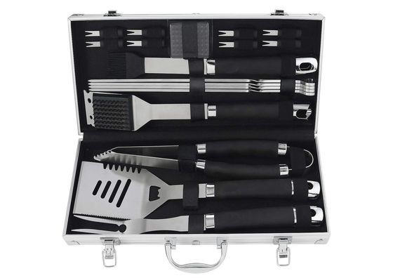 BBQ Utensil Set In Steel Effect Case