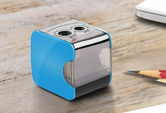 Blue USB Battery Pencil Sharpener With 2 Holes