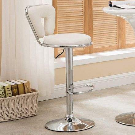 Bar Stools With Polished Chrome Base