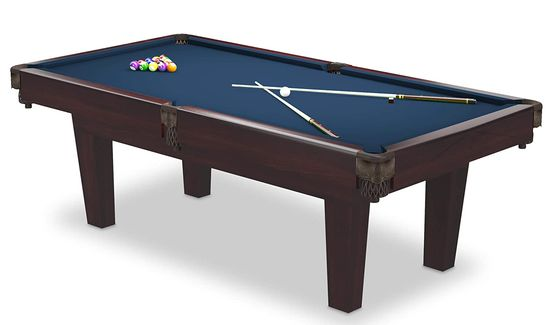6 Ft Pool Table With Green Fabric Surface