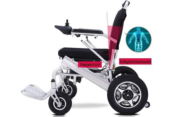 Electric Folding Wheelchair With Cushion Seat