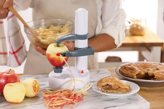 Electric Apple Peeler Machine In White Finish