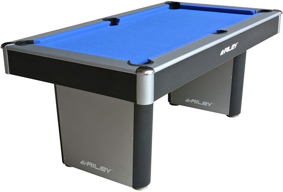 English Pool Table With Blue Textile