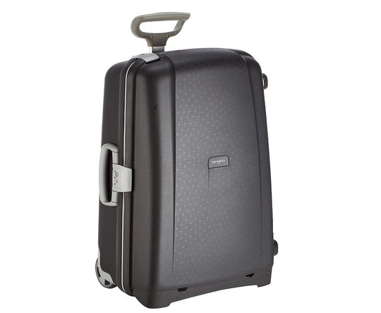 Upright Big Lightweight Suitcase In Black