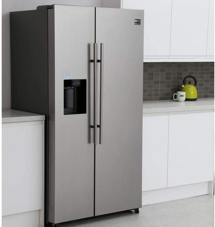 Quiet Double Door Fridge Freezer On 4 Black Legs
