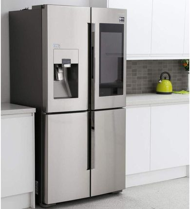 Freestanding Fridge Freezer With Black Display